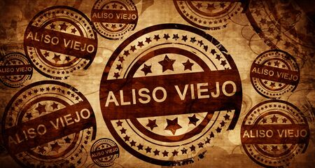 viejo: aliso viejo, vintage stamp on paper background