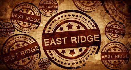 stamped: east ridge, vintage stamp on paper background