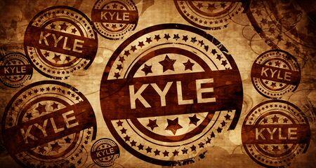 kyle: kyle, vintage stamp on paper background Stock Photo