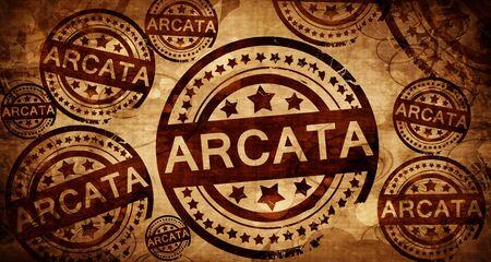 arcata, vintage stamp on paper background Stock Photo