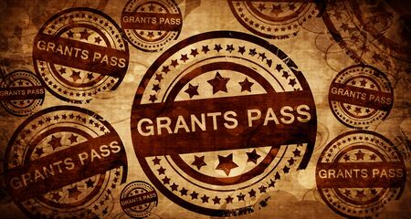 grants: grants pass, vintage stamp on paper background