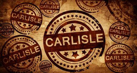 stamped: carlisle, vintage stamp on paper background