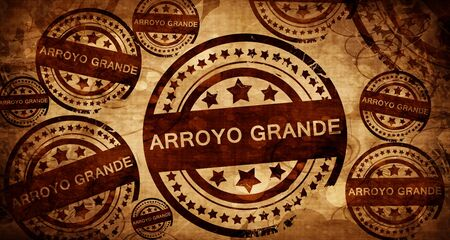 arroyo: arroyo grande, vintage stamp on paper background