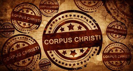 corpus christi, vintage stamp on paper background