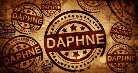 daphne, vintage stamp on paper background