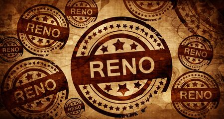 reno: reno, vintage stamp on paper background