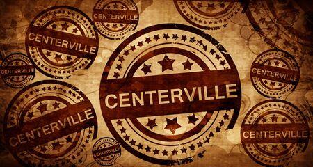 stamped: centerville, vintage stamp on paper background