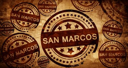 marcos: san marcos, vintage stamp on paper background