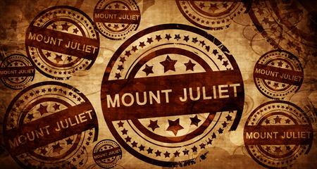mount juliet, vintage stamp on paper background
