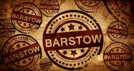 barstow: barstow, vintage stamp on paper background