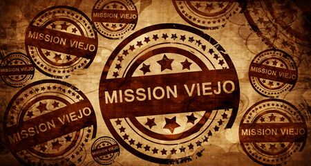 viejo: mission viejo, vintage stamp on paper background
