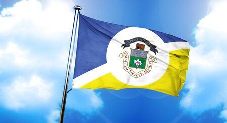 Winnipeg flag, 3D rendering