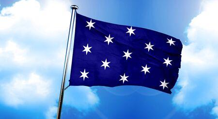 Washington flag, 3D rendering