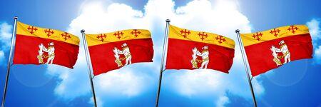 warwickshire: Warwickshire flag, 3D rendering