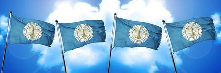 3d virginia: Virginia beach flag, 3D rendering
