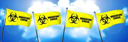 whooping: Whooping cough flag, 3D rendering