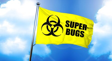 Super bugs flag, 3D rendering