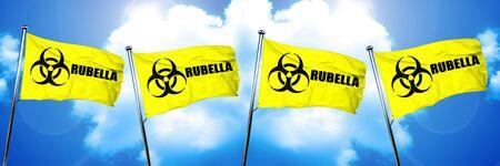 rubella: Rubella flag, 3D rendering Stock Photo