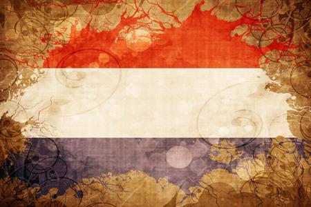 netherlands flag: Grunge vintage Netherlands flag