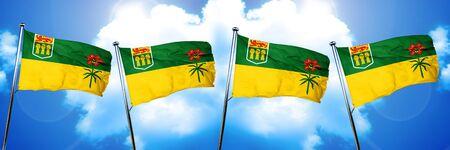 saskatchewan: Saskatchewan flag, 3D rendering