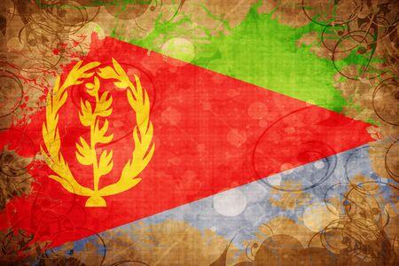 eritrea: Grunge vintage Eritrea flag Stock Photo
