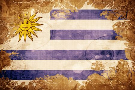 bandera de uruguay: Grunge vintage Uruguay flag