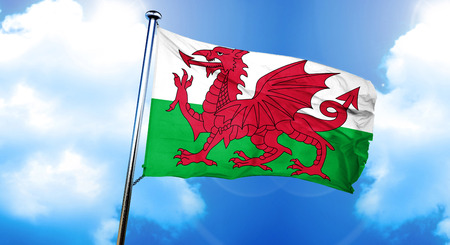 Wales flag, 3D rendering Stock Photo