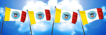 Columbus flag, 3D rendering Stock Photo