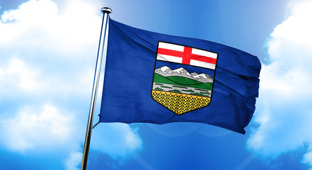 alberta flag 3d rendering stock photo picture and royalty free