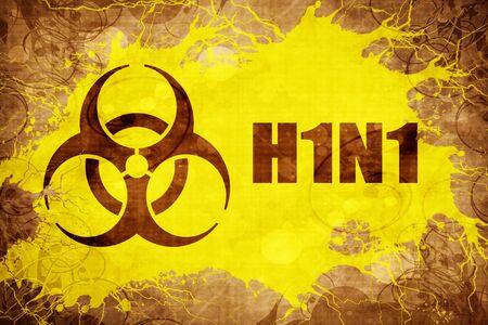 h1n1 vaccination: Grunge vintage H1N1