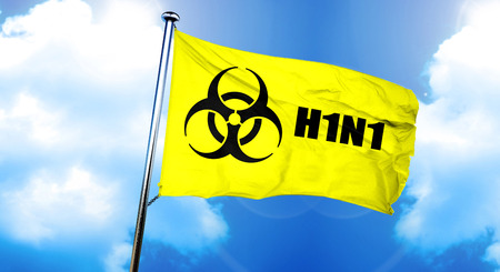 h1n1: H1N1 flag, 3D rendering Stock Photo