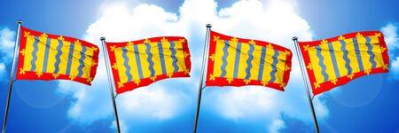 cambridgeshire: Cambridgeshire flag, 3D rendering