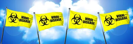 Viral disease flag, 3D rendering
