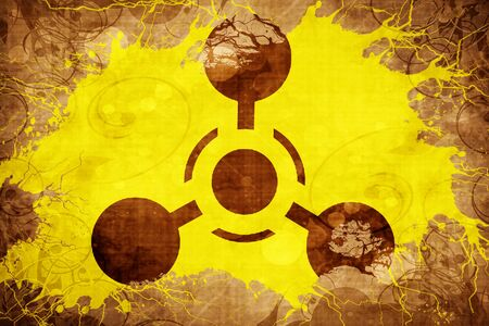 riesgo biologico: Grunge vintage Chemical weapon sign