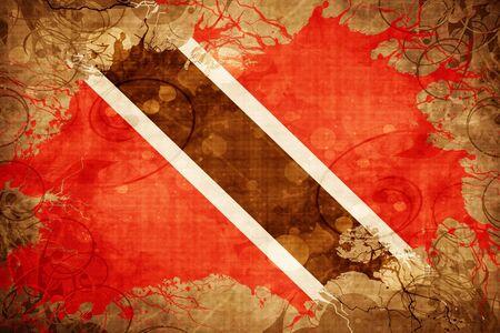trinidad and tobago: Grunge vintage Trinidad and tobago flag