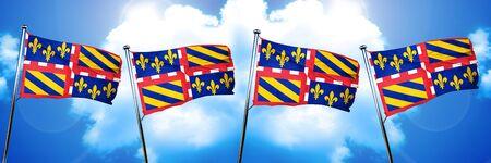 bourgogne: bourgogne flag, 3D rendering