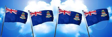 Cayman islands flag, 3D rendering