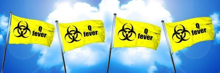 q: Q fever flag, 3D rendering Stock Photo