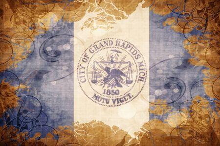 rapids: Vintage Grand rapids flag