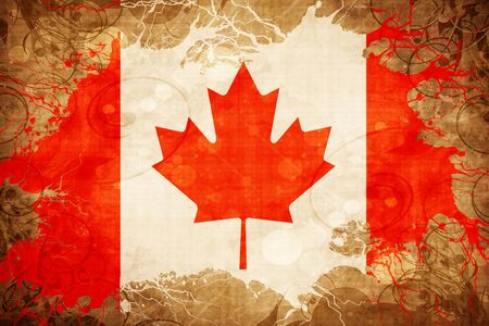 Grunge vintage Canada flag