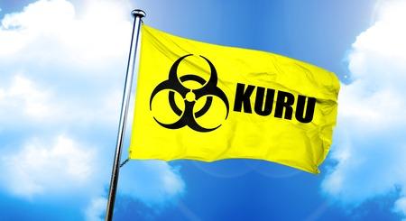 Kuru flag, 3D rendering Stock Photo