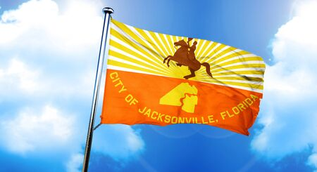 Jacksonville flag, 3D rendering