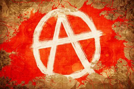 Grunge vintage Anarchist sign Stock Photo