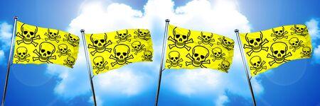 riesgo quimico: Veneno signo bandera de fondo, la representación 3D