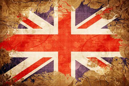bandera de gran bretaña: Grunge vintage Great britain flag
