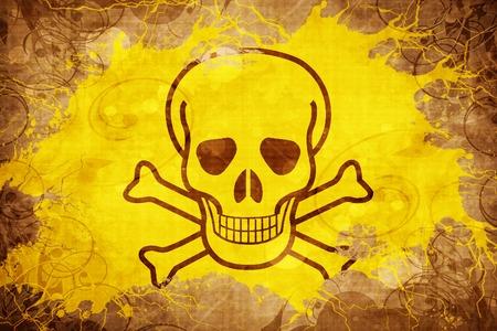 Grunge vintage Poison sign background
