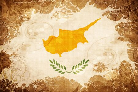 Grunge vintage Cyprus flag Stock Photo