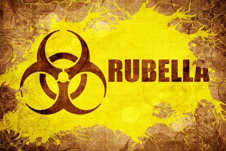rubella: Grunge vintage Rubella Stock Photo