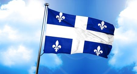 ケベックの旗、3 D レンダリング