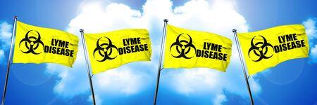 Lyme disease flag, 3D rendering
